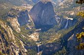foto of granite dome  - View from Sentinel Dome in Yosemite National Park in California - JPG