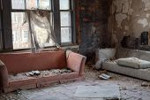 stock photo of abandoned house  - Urbex  - JPG