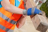 picture of blue-collar-worker  - Close - JPG