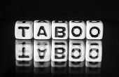 stock photo of blunt  - Taboo with black and white theme and letters with text - JPG