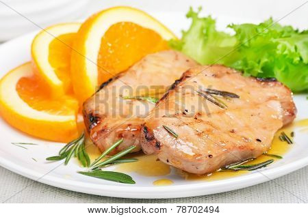 Pork Cutlets With Orange Sauce