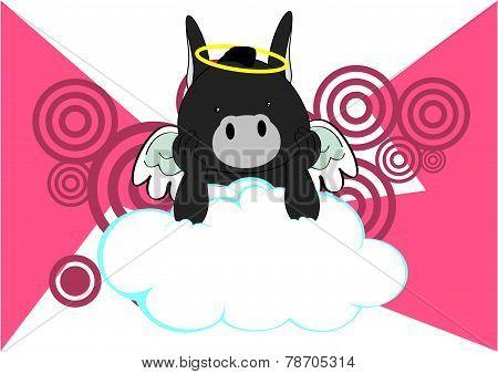 baby donkey angel cartoon background