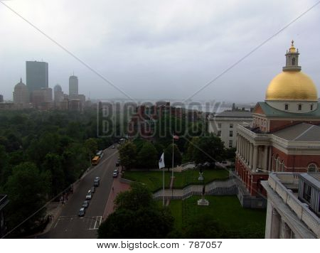 Statehouse with View of City