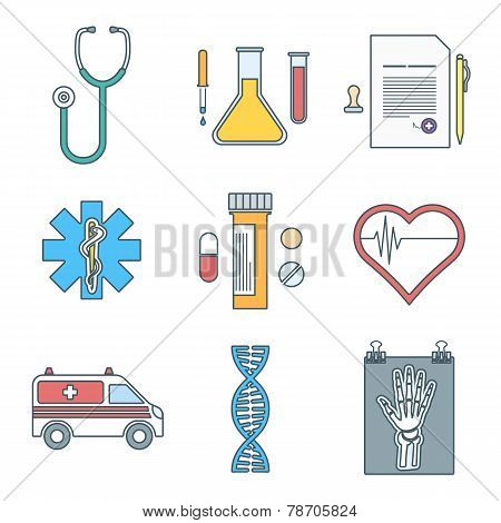 outline color medical http://www.bigstockphoto.com/ru/account/uploads/contribute?edit=78705icons set