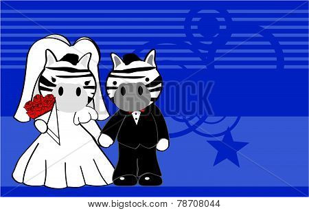 zebra married cartoon background