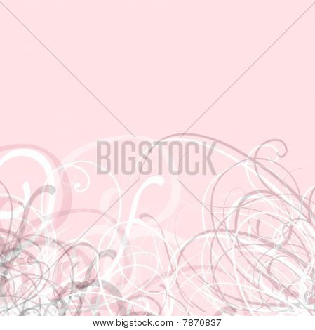 Pretty Pink Swirls Background