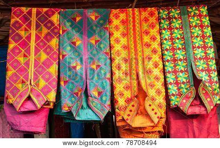 colorful kurta mens shirt at a market, India