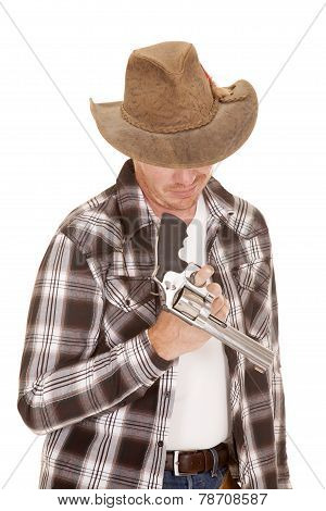 Cowboy Twirl Gun On Finger