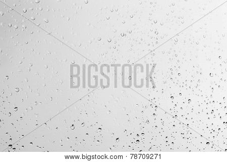 Rain drops on window vector