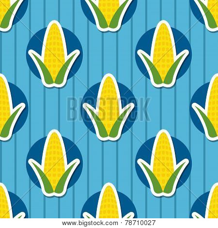 Corn Pattern. Seamless Texture