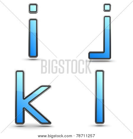 Letters I, J K, L - Set in Touchpad Style.
