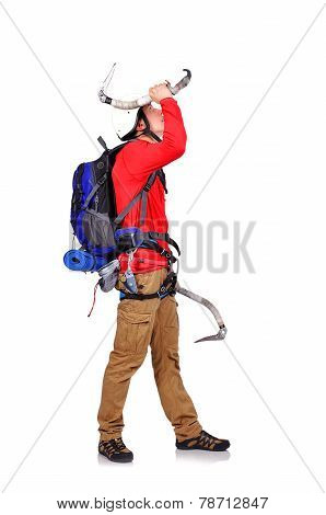 Hiker With Ice Ax