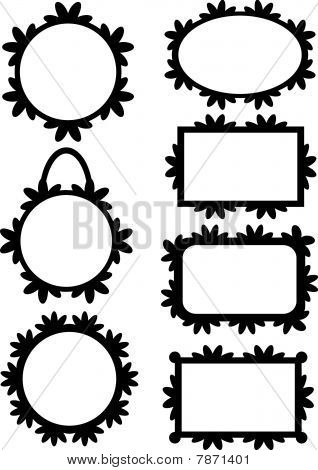 Black frame or label collection