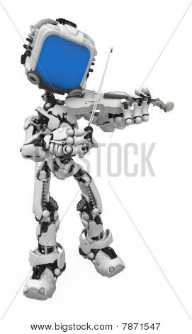 Blue Screen Robot, Violinist