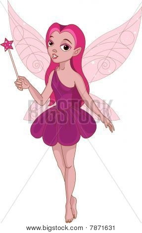 Beautiful winged fairy
