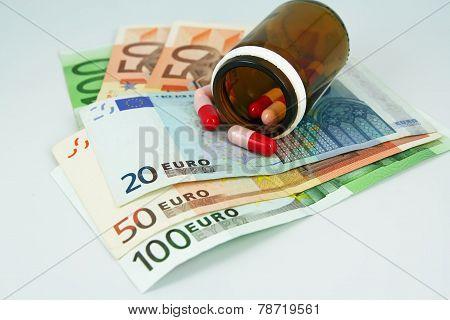 Pills and money
