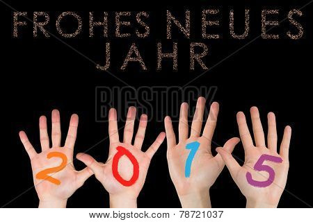 Hands against glittering frohes neues jahr