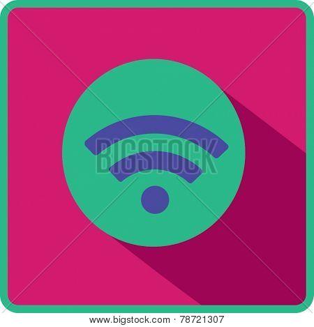 Vector wi fi web flat icon.