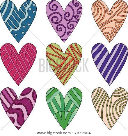 Vector heart collection