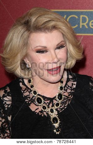 LOS ANGELES - MAR 1:  Joan Rivers at the QVC 5th Annual Red Carpet Style Event at the Four Seasons Hotel on March 1, 2014 in Beverly Hills, CA