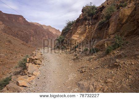 Mountain Path In High Atlas Mountains