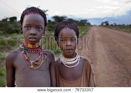 Portrait Of The African Girls.