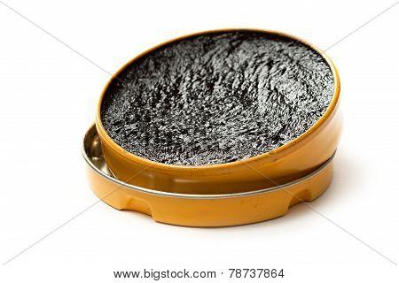 Black Shoe Polish On White