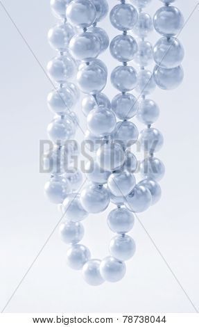 String Of Pearls In Blue