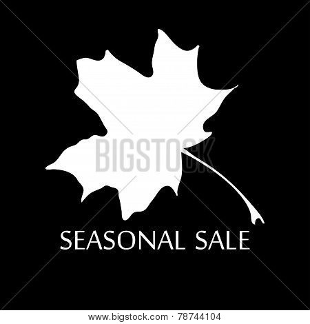 Illustration Of Words Seasonal Sale