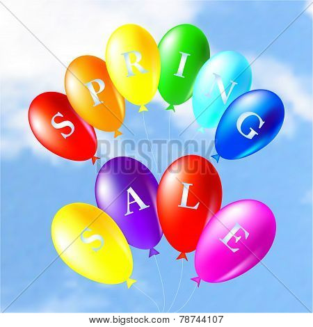 Illustration Of Colored Balloons