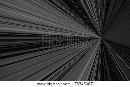 Beautiful Abstract Starburst Background, Black And White