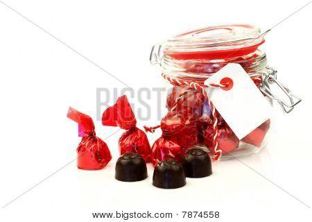 A row of bonbons