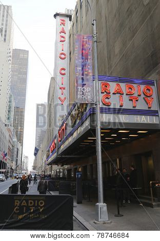 New York City landmark, Radio City Music Hall in Rockefeller Center in Midtown Manhattan