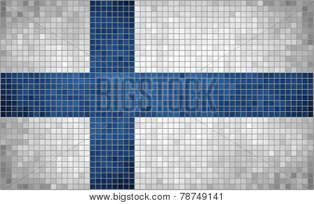 Mosaic Flag of Finland