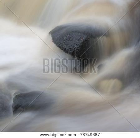 Fine Art Landscape Image Of Water Flowing Over Rocks