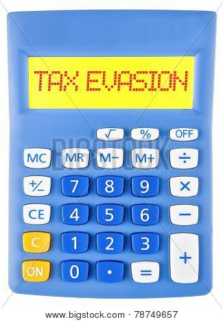 Calculator With Tax Evasion