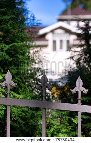Mansion Behind The Iron Fence In Jurmala
