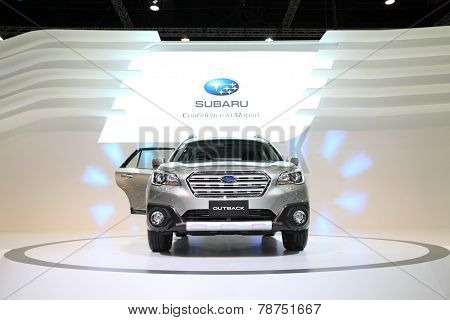 Bangkok - November 28: Subaru Outback Car On Display At The Motor Expo 2014 On November 28, 2014 In