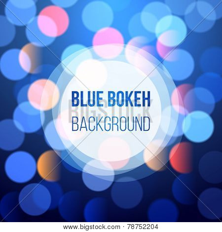 blue bokeh lights for your designs