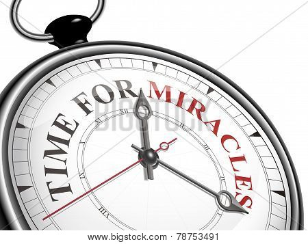 Time For Miracles Concept Clock