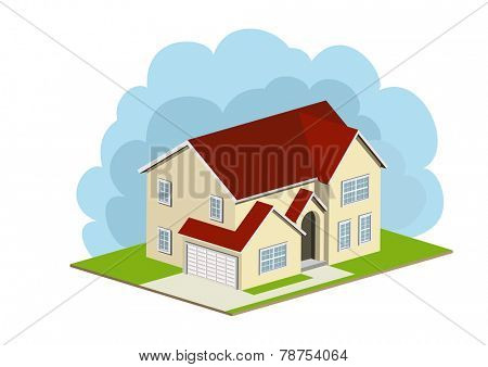 An illustration of single family home