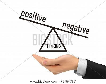 Thinking Negative Holding By Realistic Hand