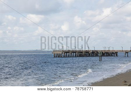Pier Over Choppy Sea