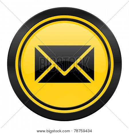 email icon, yellow logo, post sign