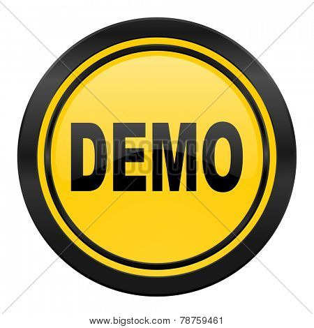 demo icon, yellow logo