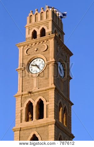 Clock tower in old Akko