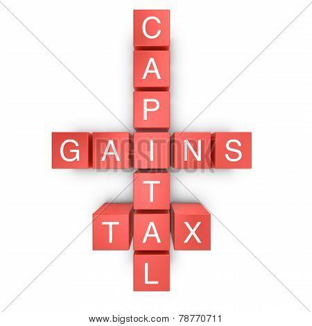 Capital Gain Tax Crossword Concept