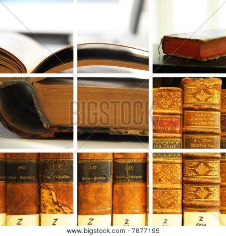 Colagem de biblioteca