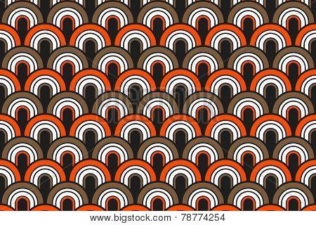 Seamless Fifties Pattern Background