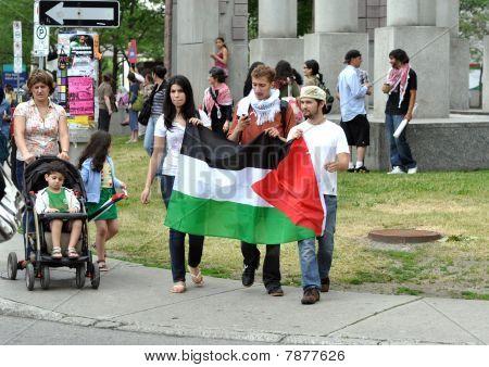 Anti-Israel rally in Ottawa